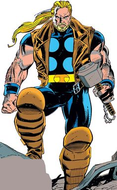 Thunderstrike - Marvel Comics - Thor | Avengers ally. New lead for Bryan's profile @ http://www.writeups.org/fiche.php?id=5584 . Finding good Thunderstrike shots isn't always easy.