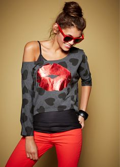 #oversized #shirt with a #cute #print in the front