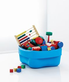 Washingup bowl used for #toy storage by @Nereyda Norman Copenhagen #colour #kids