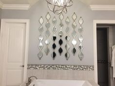 Product Details Single Silver Teardrop Panel Mirror 6
