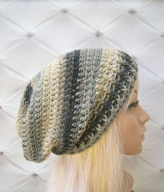 Your place to buy and sell all things handmade Slouch Hats, Knitted Hats, Hat Patterns, Crochet Patterns, Knit Crochet, Crochet Hats, Earth Tones, Hats For Women, Headbands