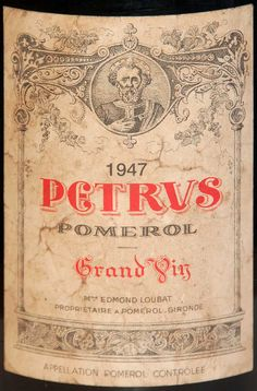 Petrus-1947 Check out our extensive First Growth inventory online at: www.benchmarkwine.com