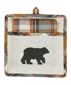 Take a look at this Roaring Thunder Bear Pot Holder & Dish Towel today!