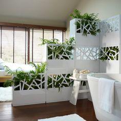 Innovative and tasteful way to divide a room Office Interior Design, Room Decor, Decor, Interior Design, House Interior, Home, Interior, Home Decor, Room