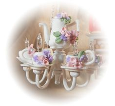 Dollhouse Miniature  Shabby Chic Working Style by gillianokelley, $65.95