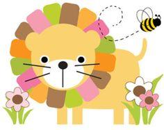 Arte de pared Safari vivero Decor León etiqueta animales de la selva pegatinas habitación Mural chica rosa bebé ducha Zoo decoraciones florales Bumble abeja