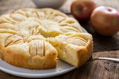 There are countless apple cakes in Germany, but this one, in which a rather plain batter rises up and bakes around sliced apples, has to be one of the most popular. Cakes like these are often called Mittwochskuchen (Wednesday cakes) because they can easily be made during the week when time is short.