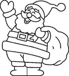 Happy Santa Claus Christmas Coloring Pages   Coloring Christmas ...