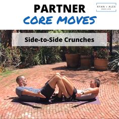 Partner Core Moves: We created 18 dynamic and effective strength training exercises for couples - Sport interests Fitness Workouts, Buddy Workouts, Strength Training Workouts, At Home Workouts, Training Exercises, Workout List, Butt Workout, Workout Challenge, Workout Plans