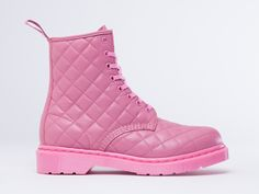 Dr. Martens Coralie Quilted 8 Eye Combat Boots in Pink Rose at Solestruck.com for $59.47