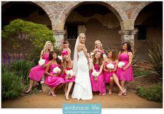 San Juan Capistrano Wedding Photographer, bridesmaids poses, bride with bridesmaids, bridal party portraits