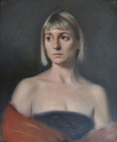 Unfinished portrait of Jennifer. Painted alongside students whilst teaching at…