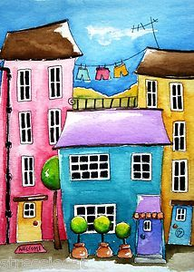 ACEO Print The Blue House