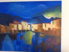 My painting Italian village