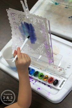 Watercolor art for preschoolers - Teaching 2 and 3 Year Olds