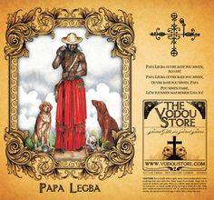 Pap Legba candle label