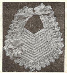 1915 crocheted bib | Flickr - Photo Sharing!