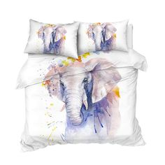 Elephant Bedding, 3d Bedding, Gifts For Teens, Clean Design, Beautiful Patterns, Peace And Love, Duvet Covers, Vibrant Colors, Study