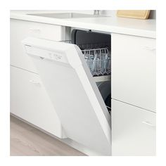 LAGAN Built-in dishwasher, white gray. You get all the basic functions plus a tall interior that makes good use of space. Dishwasher Cabinet, Black Dishwasher, Built In Dishwasher, Stainless Steel Dishwasher, Cocina Office, Diy Kitchen Remodel, Kitchen Remodeling, Ikea Family, Kitchen Stove
