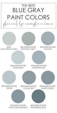 Blue Gray Paint Colors, Paint Colors For Home, Furniture Paint Colors, Bluish Gray Paint, Kitchen Paint Colors, Dinning Room Paint Colors, Best Bedroom Paint Colors, Paint Colours For Bedrooms, Silver Paint Walls