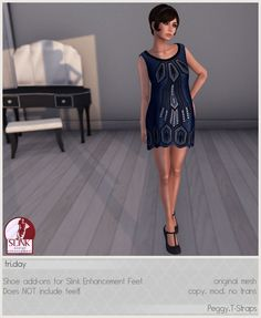 Fri.day Peggy T-strap Shoes - Demo available - Slink feet applier add-ons - 6 recolors available - 188L each