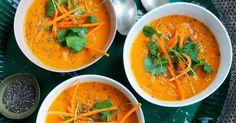 Spicy gulrotsuppe med kokosmelk