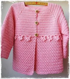 Crochet Baby Cardigan Girl Ravelry 34 New Ideas Crochet Baby Sweaters, Crochet Baby Cardigan, Baby Girl Crochet, Crochet Baby Clothes, Crochet For Kids, Baby Knitting, Cardigan Pattern, Knitted Baby, Gilet Crochet