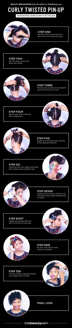 Try This: Curly Twisted Pin-Up