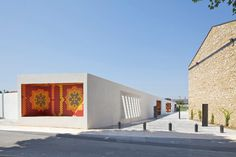 socially responsive pavilion and public square by comac