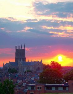 Worcester Cathedral Sunset, Worcester, England, GB