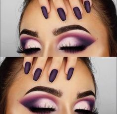 flawless makeup looks is part of wedding-makeup - flawless makeup looks eyes brows eyelashes nails purple flawless makeup looks eyes brows eyelashes nails purple Flawless Makeup, Glam Makeup, Love Makeup, Skin Makeup, Makeup Inspo, Eyeshadow Makeup, Makeup Inspiration, Makeup Ideas, White Eyeshadow