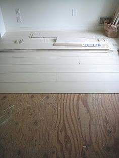 Idea for installing plywood plank floors that are SO CHEAP