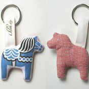 Über-cute Dala Horse key-ring!