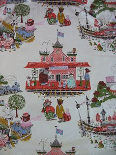 Vintage Chintz Fabric Drapes for Nursery