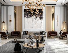 Home Room Design, Interior Design Living Room, Living Room Designs, Luxury Dining Room, Luxury Rooms, Decor Home Living Room, Room Decor, Neoclassical Interior Design, Drawing Room Interior