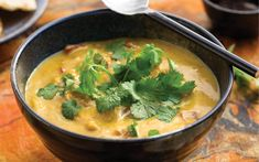 """Lentils are usually the star of this hot Indian stew, translated literally as """"pepper water,"""" but chickpea flour provides a handy shortcut to spicy satisfaction. Thickening in mere minutes, one bowlful could be a substantial meal all by itself, or a hearty starter for a full dinner party feast."""
