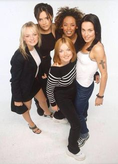 The Spice Girls at a photoshoot in London, 1 May 1998