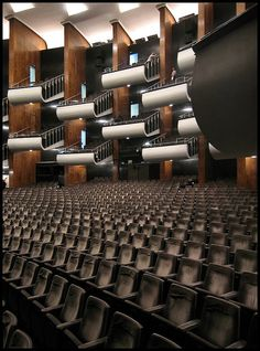 Oper Köln or Cologne Opera Acoustic Architecture, Theatre Architecture, Beautiful Architecture, Interior Architecture, Folding Architecture, Auditorium Design, Auditorium Seating, Halle, North Rhine Westphalia