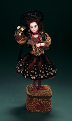 """Music Motion, Fancy: 57 French Musical Automaton """"Spanish Lady with Tambourine"""" by Leopold Lambe"""