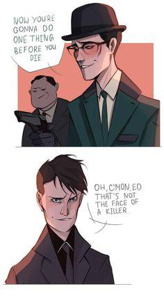 The Riddler fanart Gotham Comics, Gotham Villains, Batman Comics, Dc Comics, Batman Arkham, Gotham Show, Gotham Series, Gotham Tv, Cute Batman