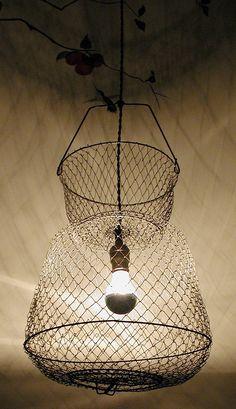 Fish Basket Pendant Light. $75.00, via Etsy.