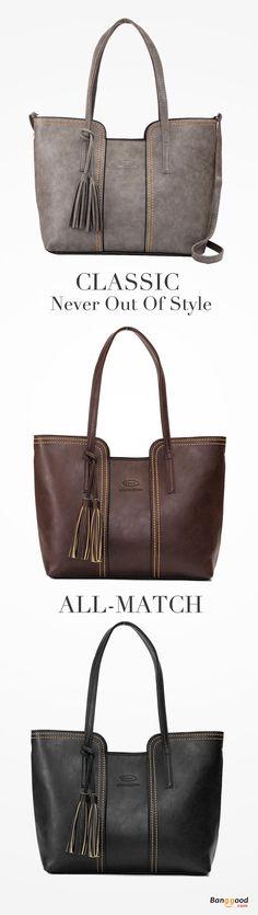 US$25.99+Free shipping. Tassel Tote Bags, Ladies Shoulder Bags, Crossbody Bags, Casual, Color: Black, Brown, Gray.