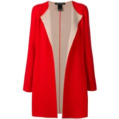 Iris Von Arnim Open Front Cardigan Coat ($2,117) ❤ liked on Polyvore featuring outerwear, coats, cashmere open cardigan, wool cashmere coat, cashmere coat, red coats and iris von arnim