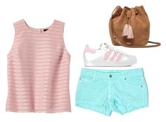 """Pink chic fun"" by lucydanvers on Polyvore featuring Banana Republic, Carmar, adidas and UGG"
