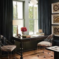 """Alice Lane Interior Design on Instagram: """"Sharing a few of the home office we've designed over the years in honor of today's episode of Dear Alice which is about ways to optimize…"""" Alice Lane Home, Interior Design Photos, Interior Ideas, Mint, Beautiful Space, Home Office Decor, Home Decor Inspiration, Design Inspiration, Design Ideas"""