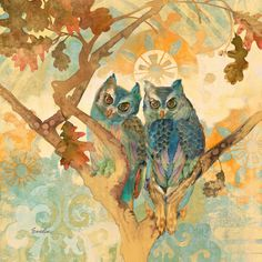 Parish Owls by Evelia Painting Print on Wrapped Canvas