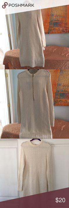 Dress Zara cable knit dress, beige Zara Dresses