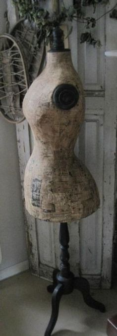 decoupaged body form Beautiful!!