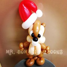Xmas chipmunk by Mr. Boma's Balloons.