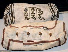 Two Linen Beach Bags, 1870-1880s
